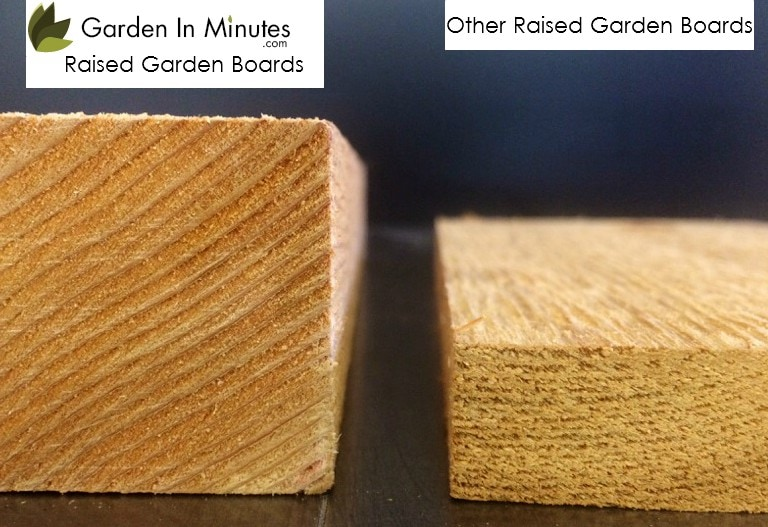 Raised Garden Kit board thickness