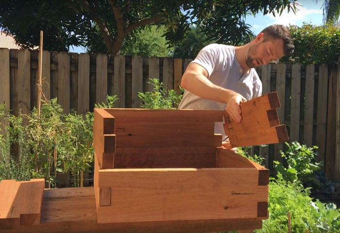 Stacked Raised Garden Bed Assembly