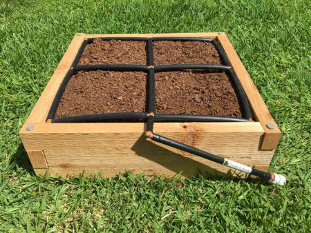 GardenInMinutes 2x2 Raised Garden Kit with 2x2 Garden Grid watering system