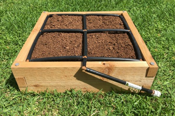 GardenInMinutes 2x2 Raised Garden Kit with 2x2 Garden Grid watering system
