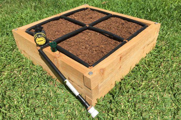 2x2 Cedar Raised Garden Kit Side View