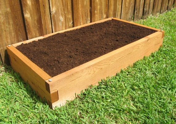 2x4 Cedar Raised Garden Bed