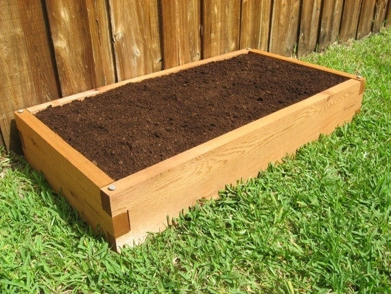 2x4 cedar raised garden bed - Garden Bed
