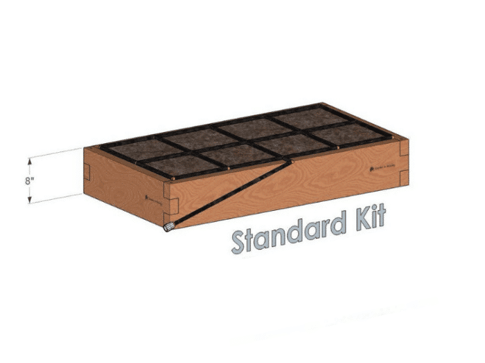 2x4 Raised Garden Kit with The Garden Grid Watering System 8 Inch Height 2