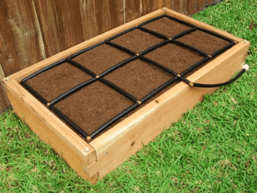 2x4 Raised Garden Kit with The Garden Grid Watering System 8 Inch Height