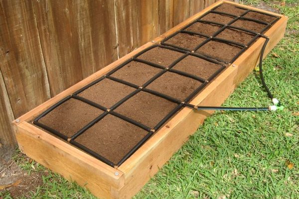 All-in-one, Cedar 2x8 Raised Garden Kit.
