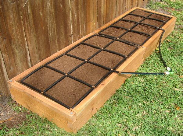 All-in-one, Cedar 2x8 Raised Garden Kit.