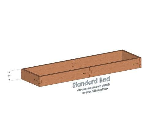 2x8 Cedar Raised Garden Bed Standard Height