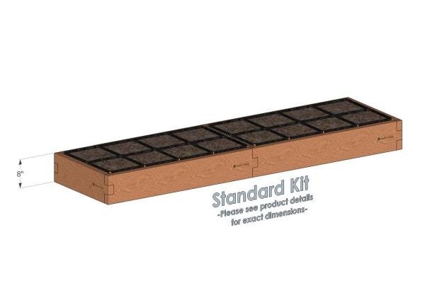 2x8 Raised Garden Kit W Watering System Gardeninminutes