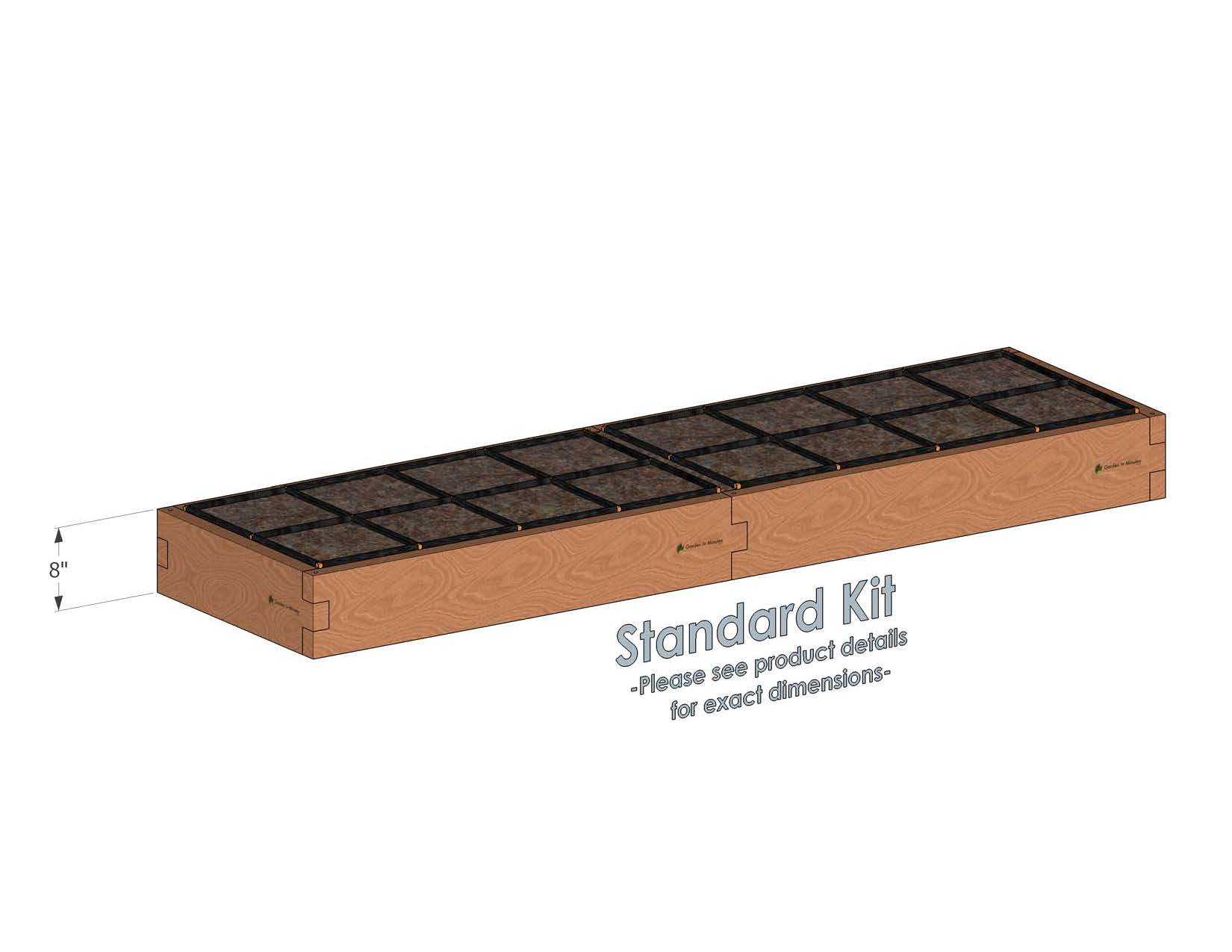 2x8 Raised Garden Kit Standard Height