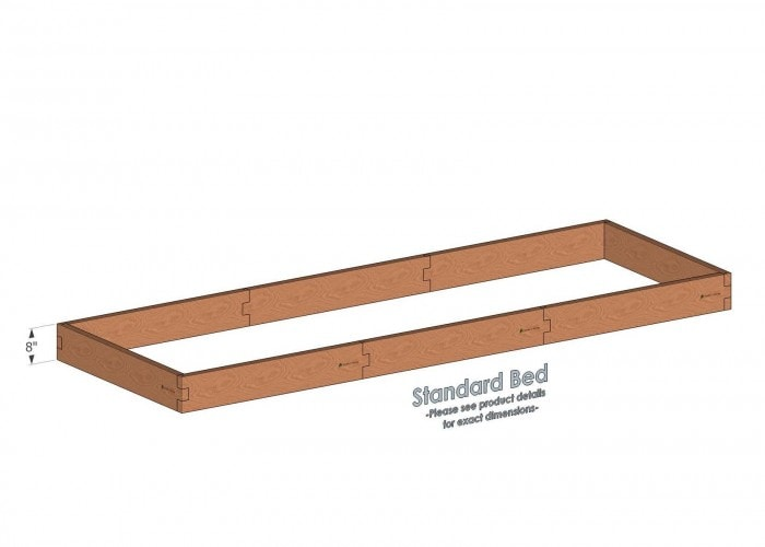 Alternate layout: 4x12 Raised Garden Bed Standard Height