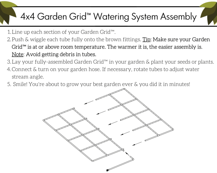 4x4 Garden Grid Assembly