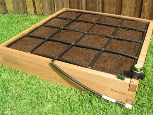 4x4 Raised Garden Bed Kit with Garden Grid Watering System 2