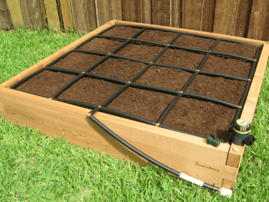 4x4 Raised Garden Bed Kit with Garden Grid Watering System