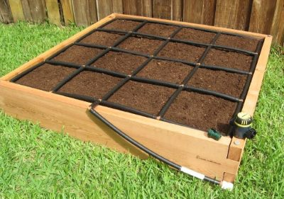 4x4 Raised Garden Kit with Garden Grid watering system