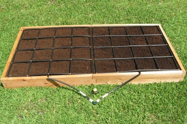 All-in-one, 4x8 Raised Garden Kit.