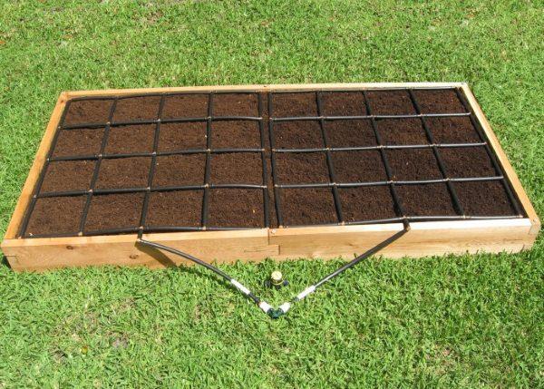 All-in-one, 4x8 Raised Garden Kit.