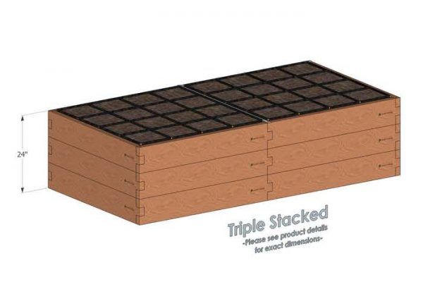4x8 Raised Garden Kit Triple Stacked