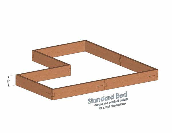Corner Shaped Cedar Raised Garden Bed