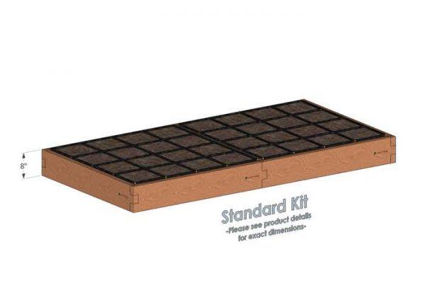 4x8 Raised Garden Kit Standard Bed