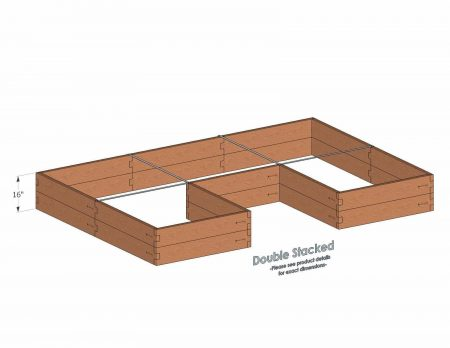 U Shaped Raised Garden Bed Double Stacked - With stacked U Shaped Garden Beds we include four aluminum cross straps to keep your garden bed walls perfectly straight.