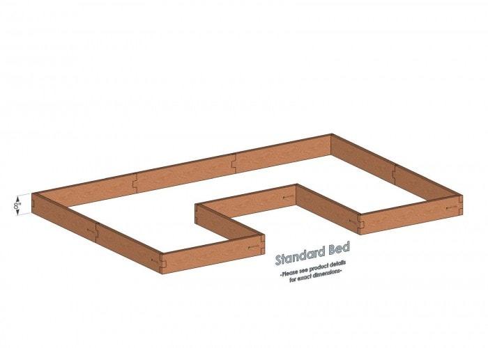 8x12 U Shaped Raised Garden Bed Standard Height