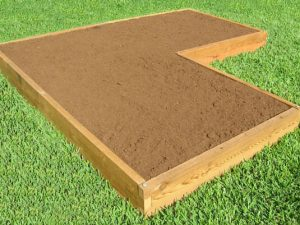 Corner Shaped Raised Garden Bed