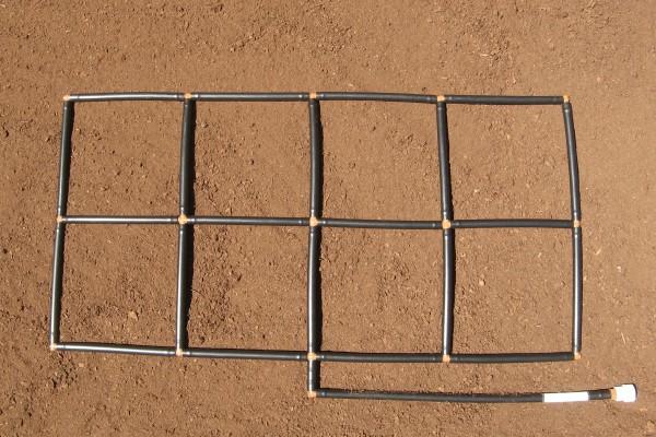 2x4 Garden Grid watering system