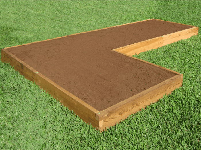 L Shaped Raised Garden Bed New