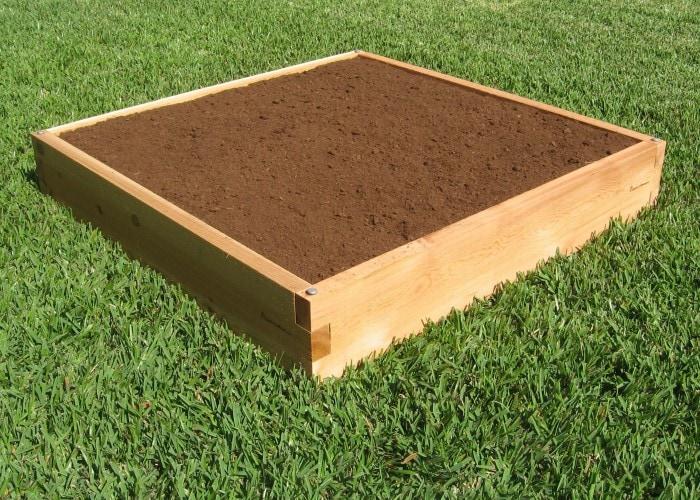 4x4 raised garden bed 4x4 cedar bed garden in minutes