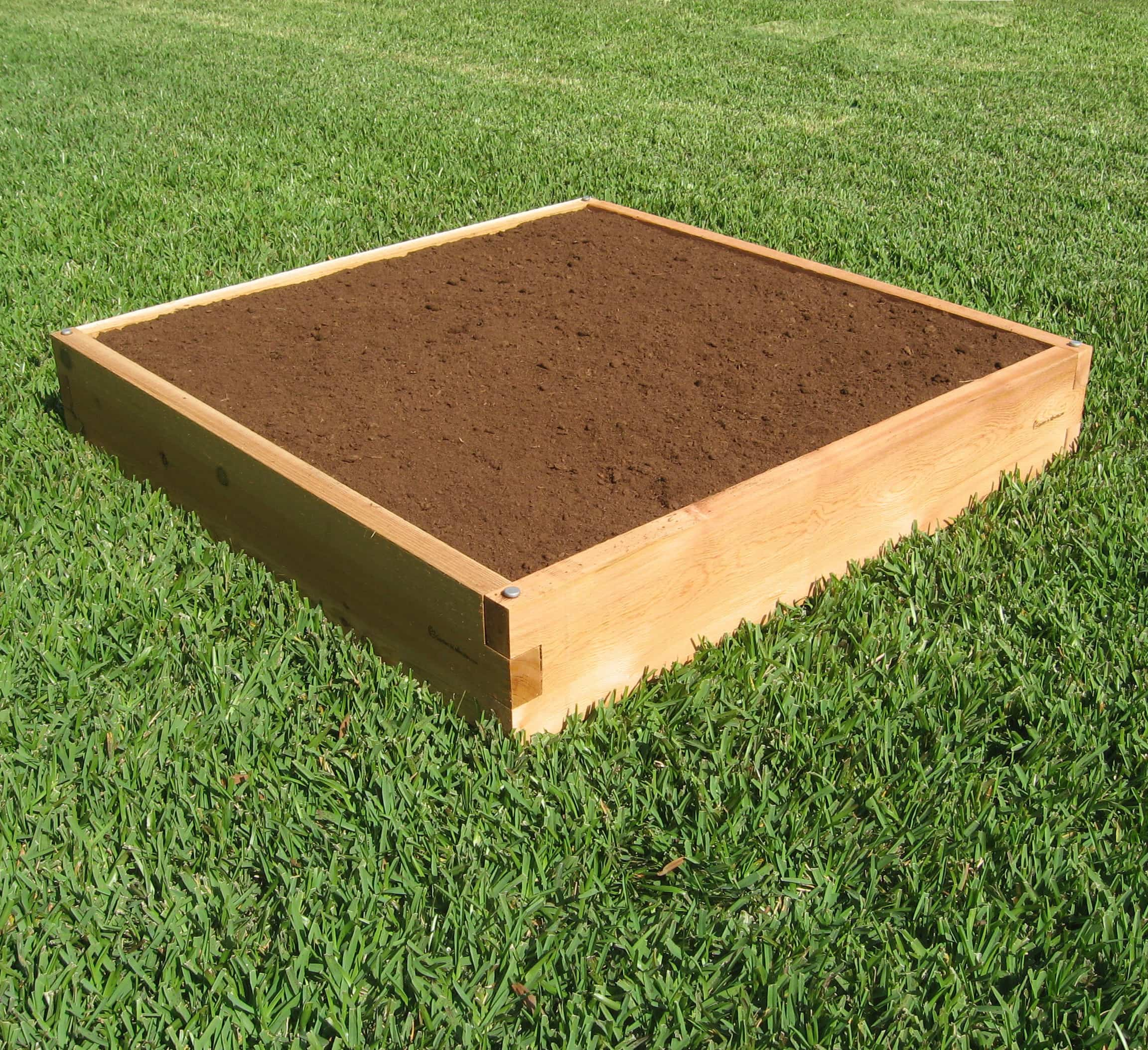 4x4 raised garden bed 4x4 cedar bed garden in minutes Raised garden beds
