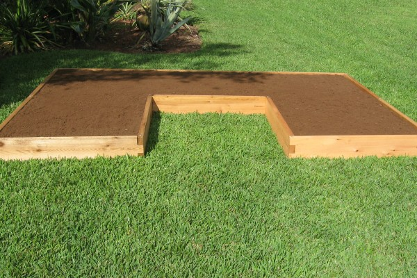 U Shaped Raised Garden Bed 4x20 Raised Garden Bed