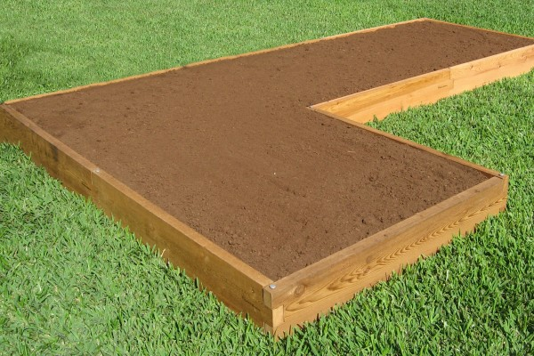 L Shaped Raised Garden Bed Expandable Cedar