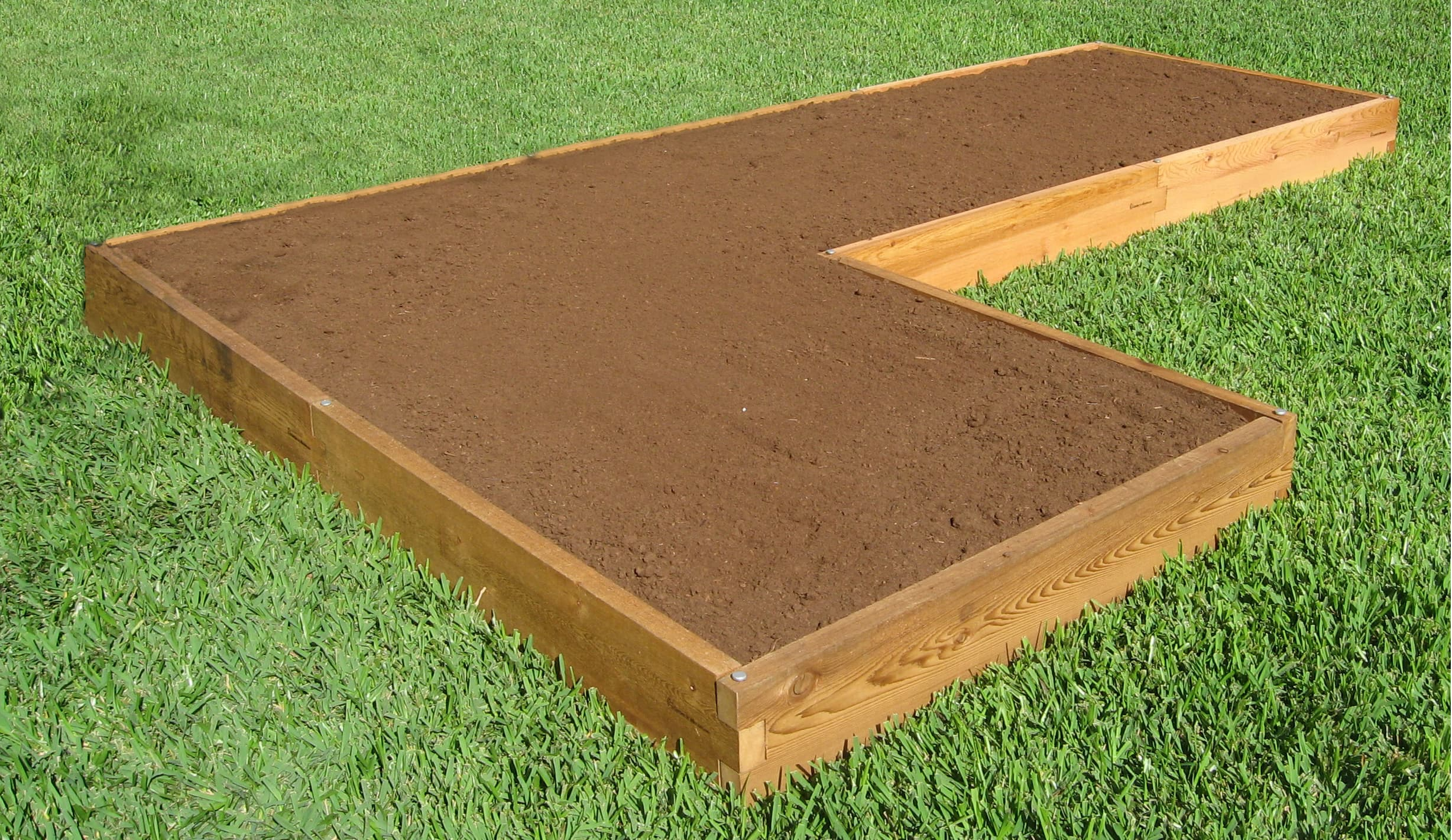L Shaped Raised Garden Bed 4x16 Raised Garden Bed