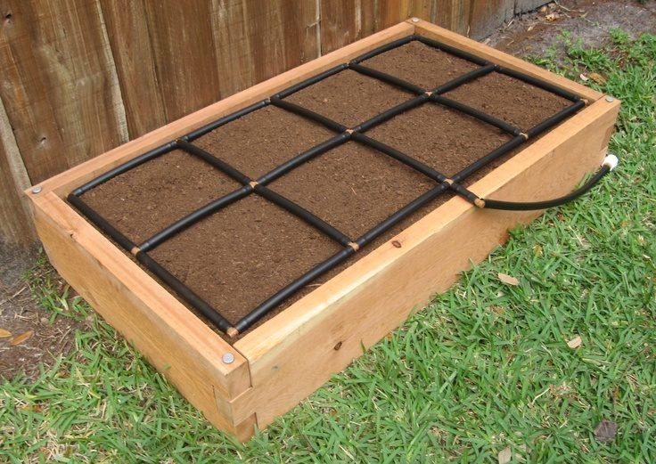 garden irrigation system planting grid 2x4 garden grid