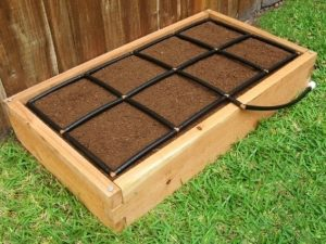 All-in-one, Cedar 2x4 Raised Garden Kit with included Garden Grid watering system