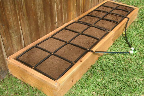 All-in-one 2x8 Cedar Raised Garden Kit
