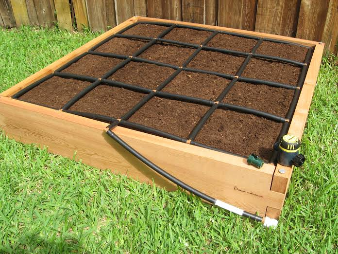 4x4 Raised Garden Kit with watering system