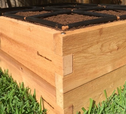 "All of our Cedar Raised Gardens are also stackable to 16"" or 24"""