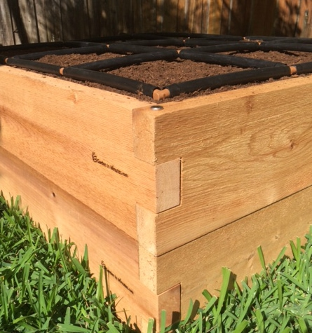 "All GardenInMinutes Cedar Raised Gardens are stackable to 16"" or 24"""