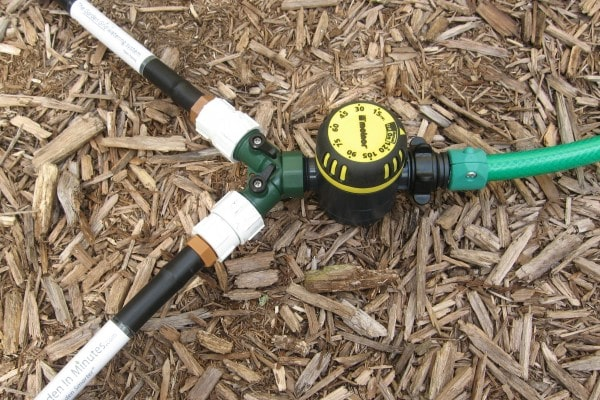 Garden Grid 2-way water flow valve and garden hose timer