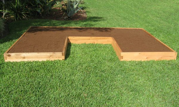 U Shaped Cedar Raised Garden Bed