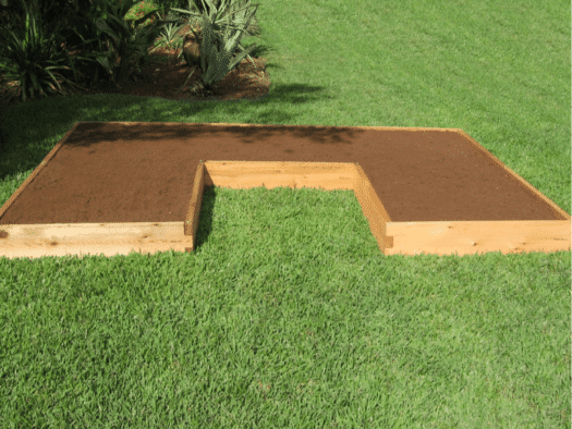 U Shaped Raised Garden Bed New