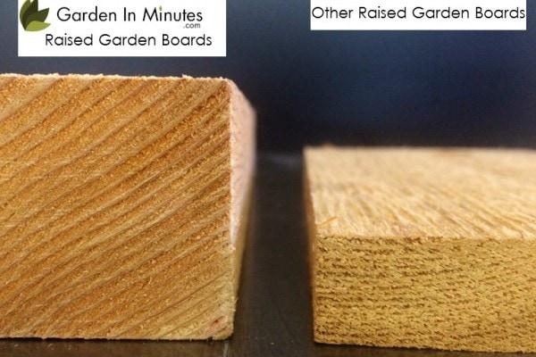 Raised Garden Kit board thickness
