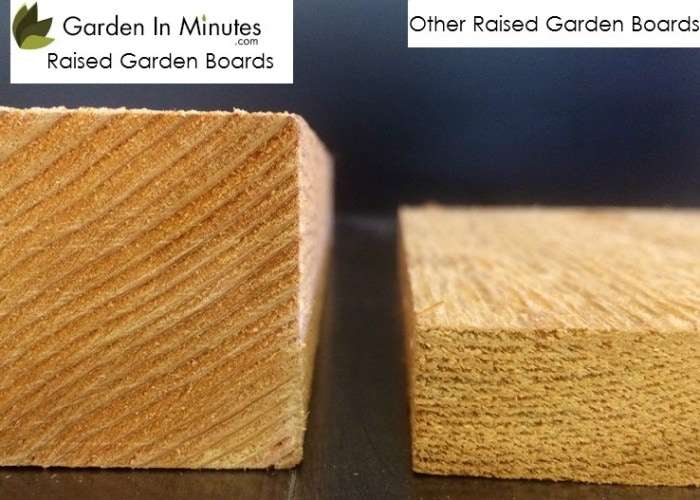 For added strength and longevity, GardenInMinutes Cedar Garden Bed boards are more than twice the thickness found in typical garden beds.