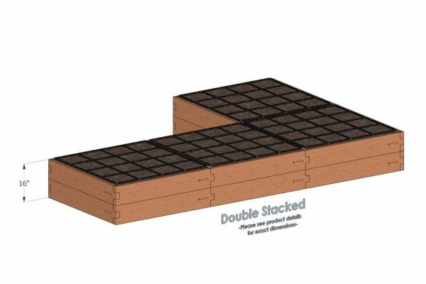 4x12x16_L Shaped_Raised_Garden_Kit_Double_Stacked