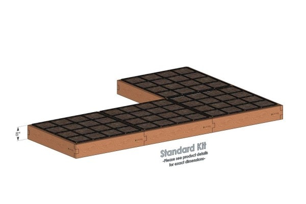 4x12x8_L Shaped_Raised_Garden_Kit_Standard_Bed