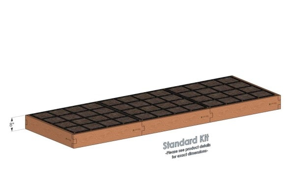 4x12 Raised Garden Kit Standard Height
