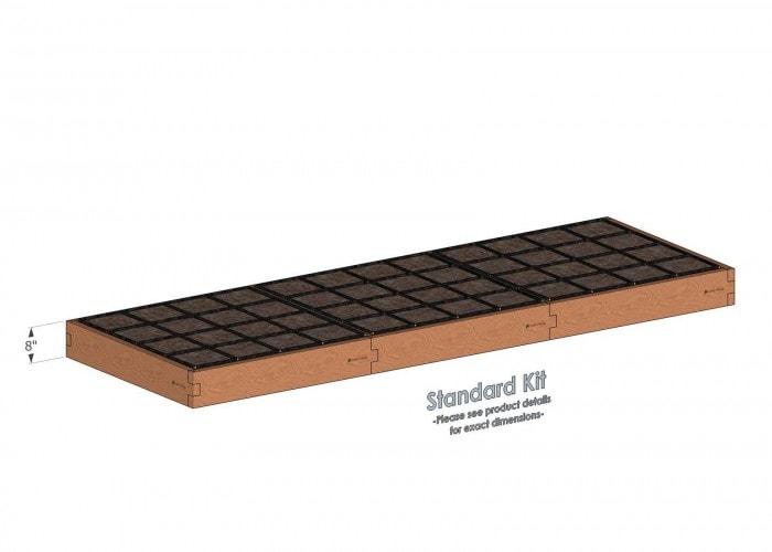 4x12 Raised Garden Kit Standard Height
