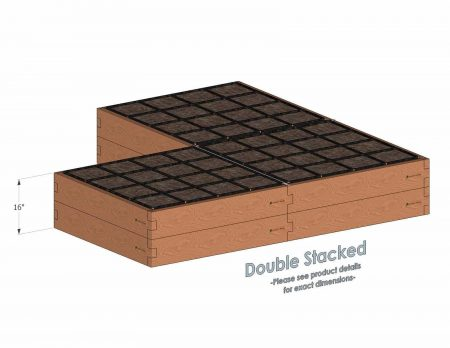 Corner Raised Garden Kit Double Stacked - Stacked Corner Garden Beds include two aluminum cross straps to keep your garden bed walls perfectly straight.
